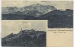AK Grüsse vom Hohenpeißenberg Total und Zugspitze 1911