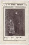 AK Bogatynia Reichenau in Sachsen Die zwei ältesten Reichenauer Christiane Ludwig Gottfried Apelt Schlesien Polen 1900 RAR