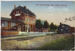 AK Bad Schmiedeberg (Bez. Halle) Bahnhof mit Zug 1925 RAR