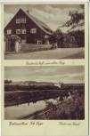 AK Niedernwöhren Partie am Kanal Gastwirtschaft zum alten Krug 1940