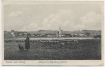 AK Gruss aus Obing von Jepolding gesehen Schäfer mit Schafen 1914 RAR