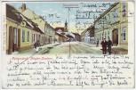 AK Litho Pottendorf Hauptstrasse Bezirk Baden Niederösterreich Österreich 1913 RAR