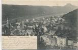 AK Bad Schandau Ortsansicht Sächsische Schweiz 1903