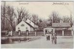 AK Pottendorf Schlossmühle mit Menschen Bezirk Baden Niederösterreich Österreich 1913 RAR
