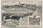 AK Thanhausen b. Bärnau Schloss mit Handlung Ernst Kutzer Wappen der letzten Gutsherrschaft Verlag Hans Pernat K.B. Bahnpost 1903 Sammlerstück RAR