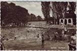 AK Foto Apolda Stadtbad mit Menschen 1960