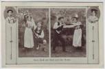 AK Herzl. Gruß von Mizzi und Karl Mende Künstler Trachtentanz 1910