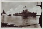 AK Foto Kriegsschiff Hr. Ms. Tromp Den Helder 1940