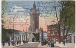 AK Frankfurt am Main Am Eschenheimer Turm mit Menschen 1924