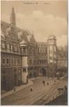 AK Frankfurt am Main Rathaus mit Menschen 1910