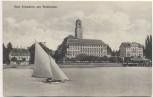 AK Bad Schachen am Bodensee mit Schiff Lindau Bayern Feldpost 1915