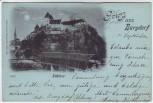 Mondschein-AK Gruss aus Burgdorf Schloss Bern Schweiz 1898