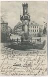 AK Freiberg Schwedendenkmal mit Peterstrasse Sachsen 1901