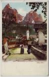 AK Seis am Schlern Dorfstrasse mit Frauen Südtirol Italien 1900