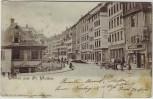 AK Gruss aus St. Gallen Straßenansicht SG Schweiz 1900