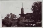 AK Foto Leiden Rijnsburgersingel Windmühle Zuid-Holland Niederlande 1950