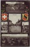 AK Mehrbild Langenthal Marktgasse Wildpark Wappen ... BE Schweiz 1911 RAR