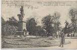 AK Metz Prinz Friedrich Karl-Denkmal mit Menschen Moselle Lothringen Frankreich Soldatenkarte 1909