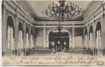 AK Metz Kais. Lyceum Lycee Die Aula mit Menschen Moselle Lothringen Frankreich Soldatenkarte 1908 Sammlerstück RAR