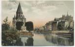 AK Metz Partie am Ludwig-Staden mit der neuen protest. Kirche Moselle Lothringen Frankreich 1907