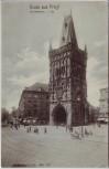 AK Gruss aus Praha Prag Der Pulverturm Tschechien 1910