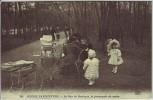 AK Paris Le Bois de Boulogne la promenade du matin Kinder Kinderwagen Frankreich 1910