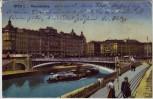 AK Wien I. Marienbrücke mit Schiff Menschen Österreich 1921