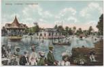 AK Leipzig Lindenau Charlottenhof viele Menschen 1910