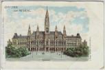 AK Gruss aus Wien Rathaus Österreich 1900