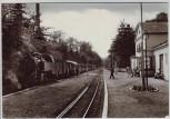 AK Foto Bad Doberan OT Ostseebad Heiligendamm Bahnhof mit Bäderbahn 1980