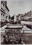 AK Foto Gefrees Ortsansicht mit Brunnen Fichtelgebirge 1969