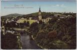 AK Greiz im Vogtland Blick auf Unteres Schloß Kirche Gymnasium 1920