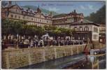 AK Bad Ems Kurgarten mit Konzert viele Menschen Lahn 1912