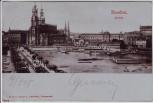 AK Dresden Blick auf Altstadt mit Hotel Bellevue Schiffe Brücke 1901