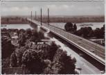 AK Foto Düsseldorf Blick auf Nordbrücke 1961