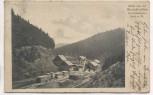 AK Gruss von der Bischofsmühle Sägewerk b. Schwarzenbach am Wald Rodachtal Frankenwald Zugstempel 1911 RAR