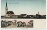 VERKAUFT !!!   AK Gruß aus Hohenlinden b. Ebersberg 3 Bilder Total Gasthaus zu Post Münchener Strasse gold glänzende Fenster Feldpost 1916 Sammlerstück RAR