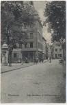 VERKAUFT !!!   AK Pforzheim Ecke Reuchlinstrasse Schulstrasse 1915 RAR