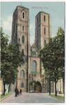 AK Breslau Dom mit Menschen Wrocław Schlesien Polen 1915