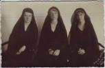 AK Foto Dresden 3 Frauen in Trauerkleid Fotograf Horst Meier 1932