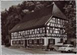 AK Foto Glottertal Gasthaus zur Schloßmühle mit Auto 1970