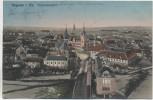 AK Hagenau im Elsass Gesamtansicht Haguenau Bas-Rhin Frankreich Garnisionslazarett Feldpost 1915