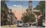 AK München Sonnenstraße und Mathias-Kirche mit Straßenbahn 1919