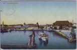 AK Konstanz am Bodensee Hafen mit Schiffen 1911