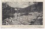 AK Görlitz Am Viadukt mit Kahnstation 1912