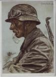 Künstler-AK W. Willrich Ein Kradmelder Unsere Panzerwaffe VDA 2. WK 1942