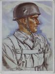 Künstler-AK W. Willrich Oberleutnant Schmidt VDA 2. WK 1941