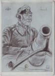 Künstler-AK W. Willrich Oberleutnant v. Jaworski Männer der Westfront VDA 2. WK 1941