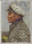 Künstler-AK W. Willrich Kapitänleutnant Prien U-Boot Marine VDA 2. WK 1940