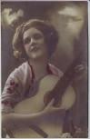 AK Foto Frau mit Gitarre 1920